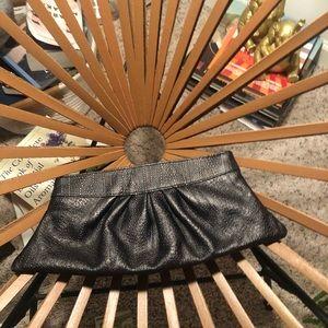 Lauren merkin clutch! Black leather!